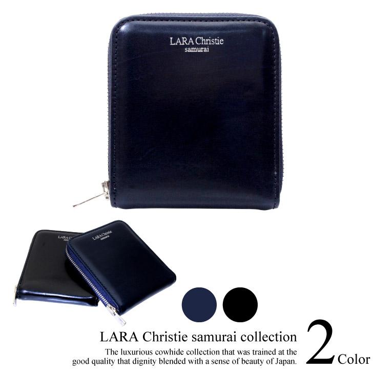 LARA Christie(ララクリスティー) 短財布 LARA Christie ララクリスティー samurai ラウンド ジップ 二つ折り ウォレット