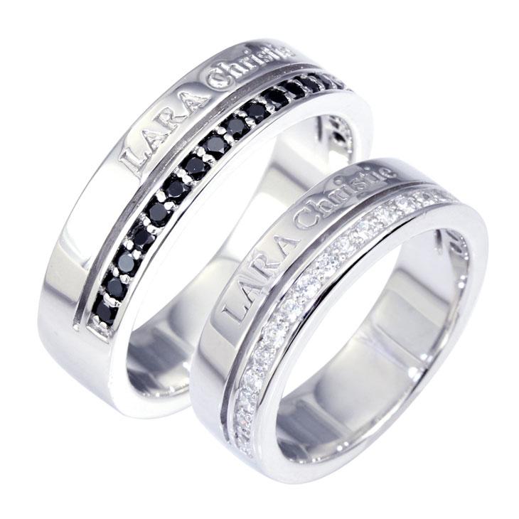記念日にお揃いのプレゼントを 人気雑誌にも掲載された注目ブランド LARA Chrisiteララクリスティー 商店 Christie ララクリスティー ペアリング 代引き不可 Label リング 指輪 r3867-p PAIR トラディショナル シルバーアクセサリー