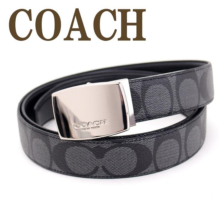 コーチ ベルト COACH メンズ レザー シグネチャー 64828CQBK ブランド 人気