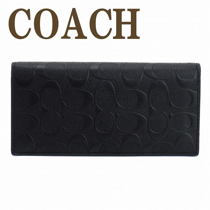 コーチ 財布 メンズ 長財布 COACH 二つ折り 本革レザー 75365BLK ブランド 人気