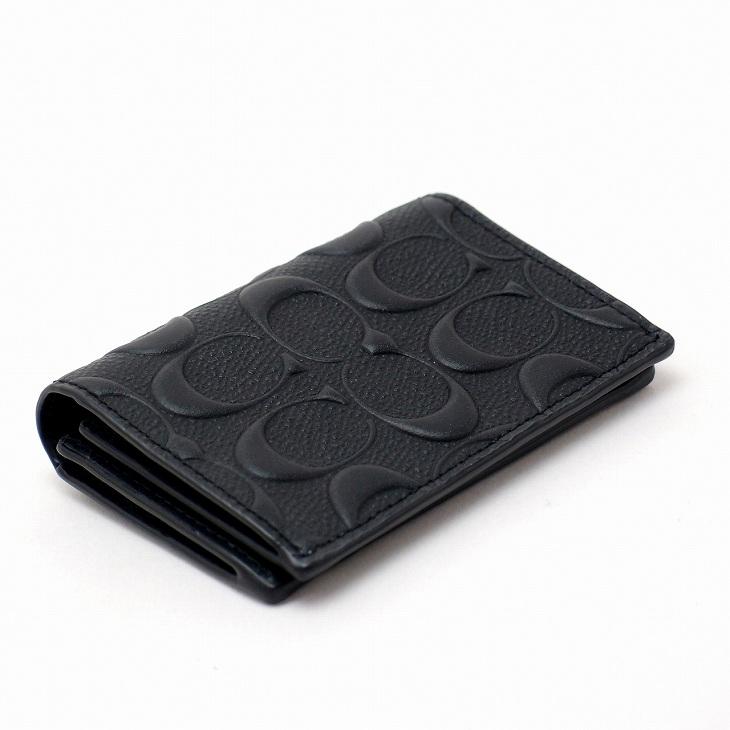 コーチ COACH メンズ カードケース 名刺入れ 定期券入れ パスケース シグネチャー 12023BLK ブランド 人気