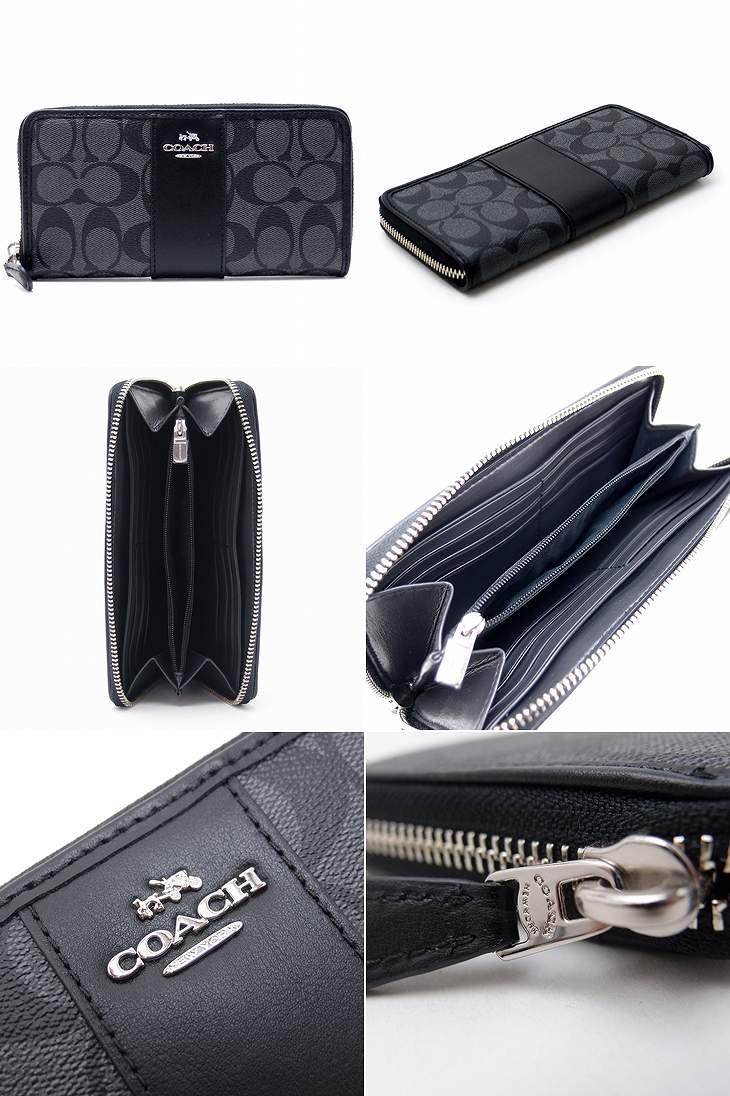 f5594d0331f9 コーチCOACH財布メンズ長財布ブラックシグネチャーラグジュアリーアコーディオンジップ54630SVDK6ブランド人気