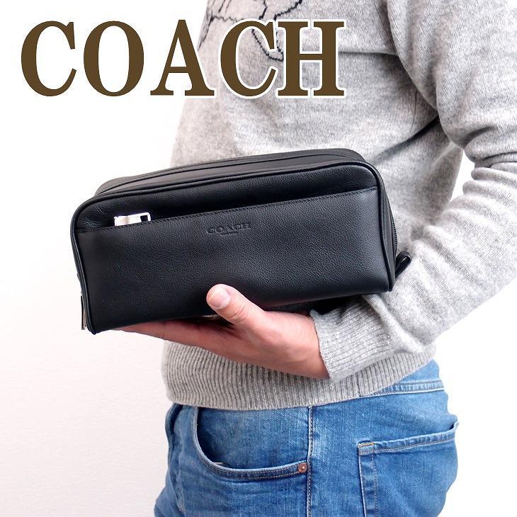 コーチ バッグ メンズ セカンドバッグ COACH クラッチバッグ セカンドポーチ レザー ブランド 58542BLK ブランド 人気