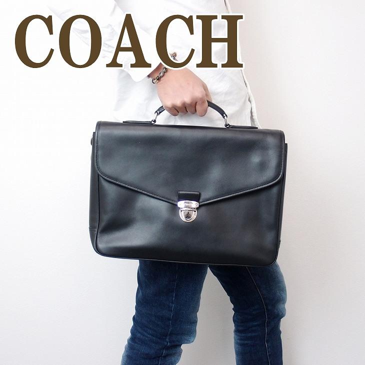 コーチ バッグ COACH メンズ ビジネスバッグ ブリーフケース 2way 斜めがけ レザー 72070BLK ブランド 人気