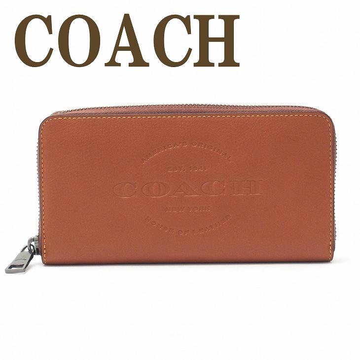 コーチ COACH 財布 メンズ 長財布 ラウンドファスナー レザー ロゴ 24648SAD ブランド 人気