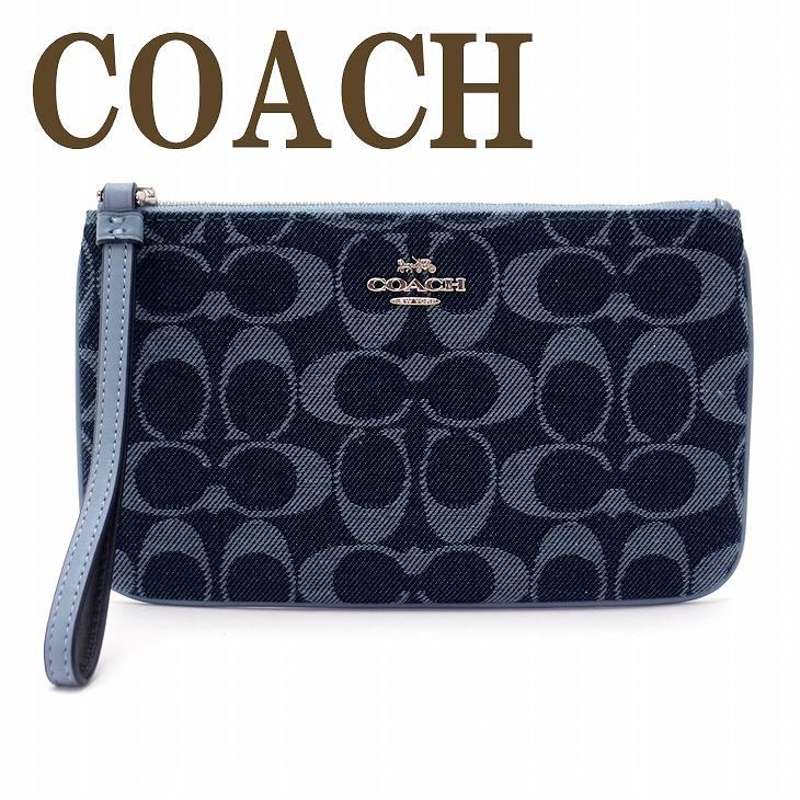 コーチ COACH ポーチ ハンドポーチ リストレット 財布 リストレット シグネチャー 26660SVDE ブランド 人気