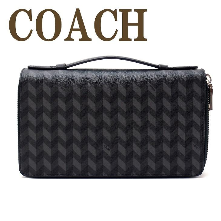 コーチ COACH 財布 メンズ セカンドバッグ ポーチ 長財布 パスポートケース 30298BLC ブランド 人気