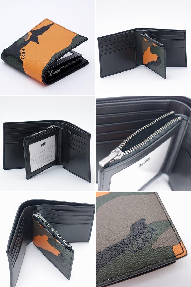 f176f3af21b6 国内でもなかなかお目にかかれない、コーチのメンズ二つ折り財布が入荷。 贅沢に使われた極上の本革レザー。 そして、できる男のカモフラージュ柄。