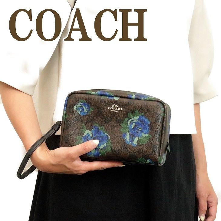 コーチ COACH ポーチ クラッチバッグ 化粧ポーチ 花柄 37566SVN2R ブランド 人気