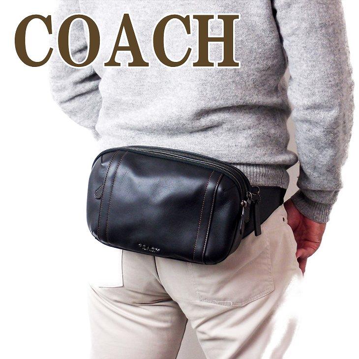 コーチ COACH バッグ メンズ ショルダーバッグ 斜めがけ ウエストバッグ レザー 37594QBBK ブランド 人気