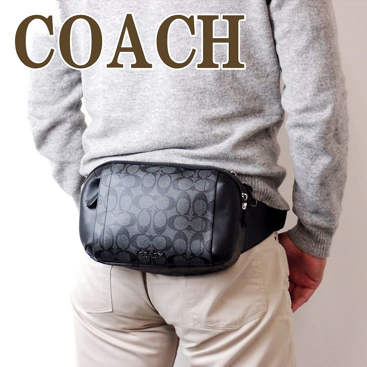 コーチ COACH バッグ メンズ ショルダーバッグ 斜めがけ ウエストバッグ レザー 38749QBAF4 ブランド 人気
