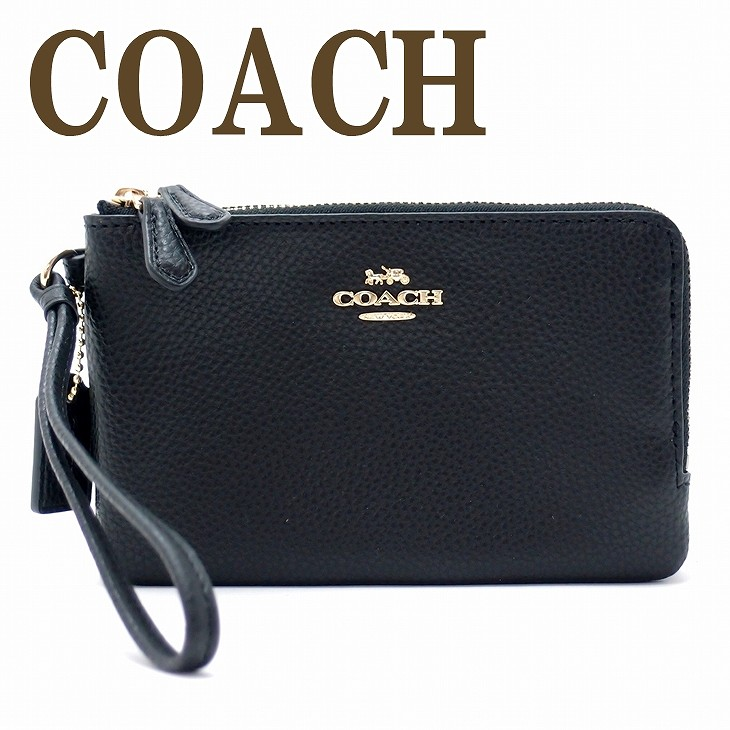 コーチ COACH ポーチ ハンドポーチ リストレット 財布 リストレット 87590IMBLK 【ネコポス】 ブランド 人気