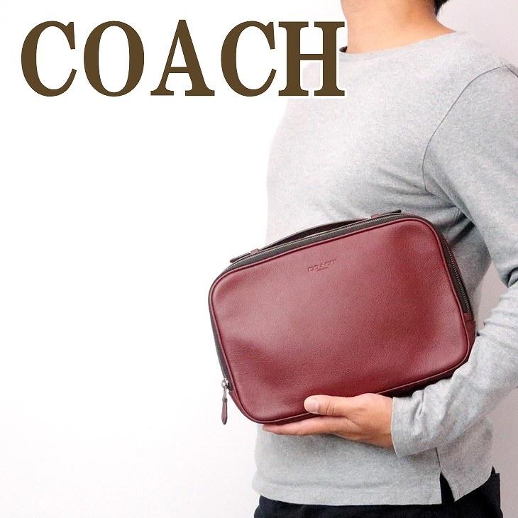 コーチ COACH バッグ メンズ セカンドバッグ クラッチバッグ 財布 セカンドポーチ レザー 39806QBCRD ブランド 人気