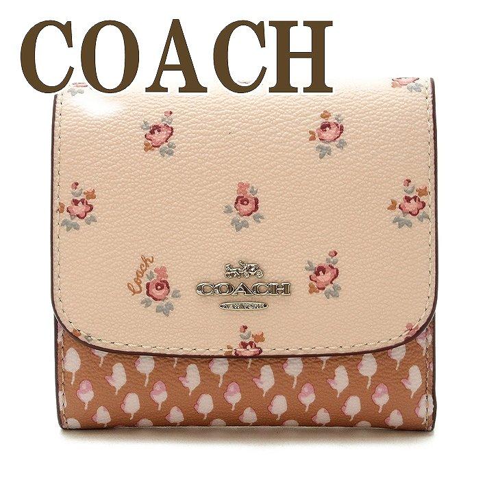 コーチ 財布 COACH 三つ折り ミニ 財布 レディース ピンク 花柄 67618SVM05 ブランド 人気