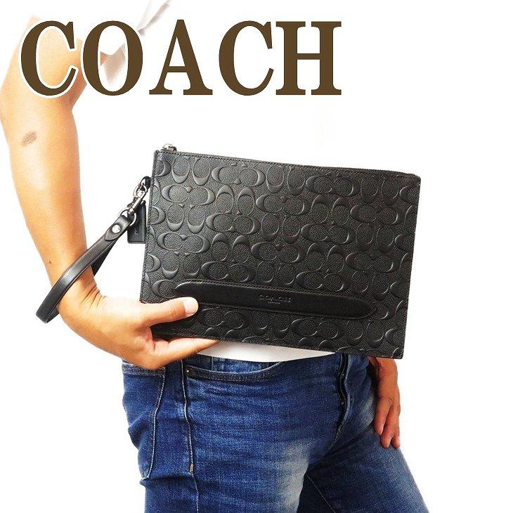 コーチ COACH バッグ セカンドバッグ クラッチバッグ ポーチ セカンドポーチ シグネチャー 75914QBBK ブランド 人気