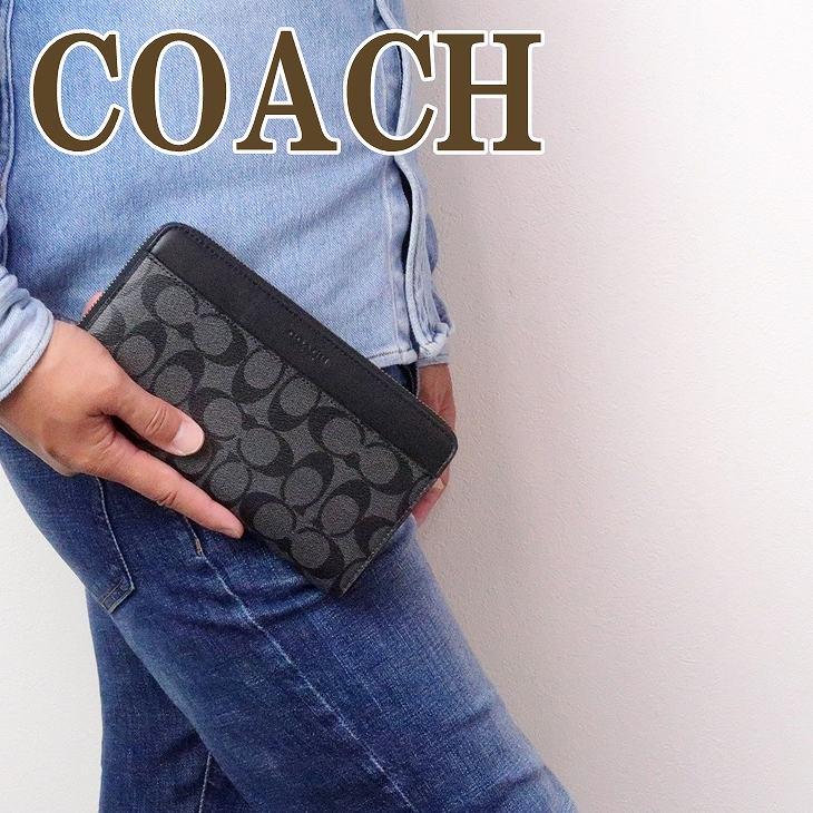コーチ 財布 COACH メンズ 長財布 パスポートケース 93510CQBK ブランド 人気