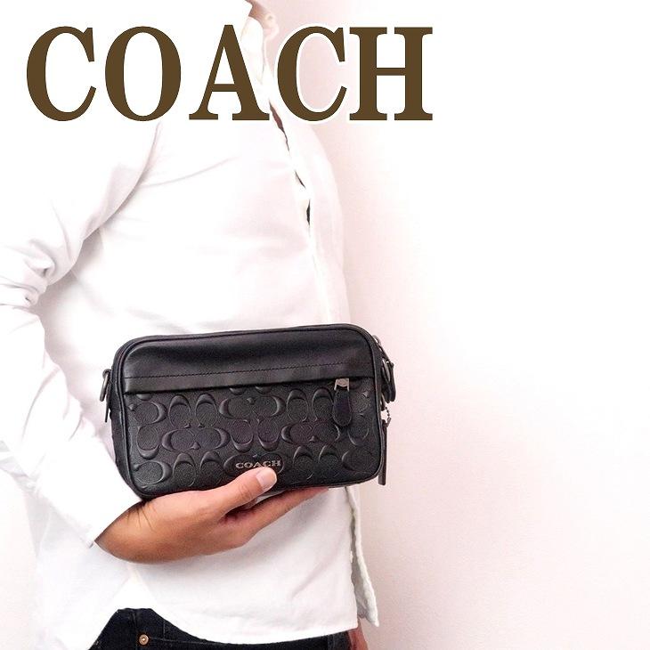 コーチ COACH バッグ メンズ ショルダー セカンド クラッチバッグ ポーチ ブランド レザー シグネチャー 50713QBBK ブランド 人気