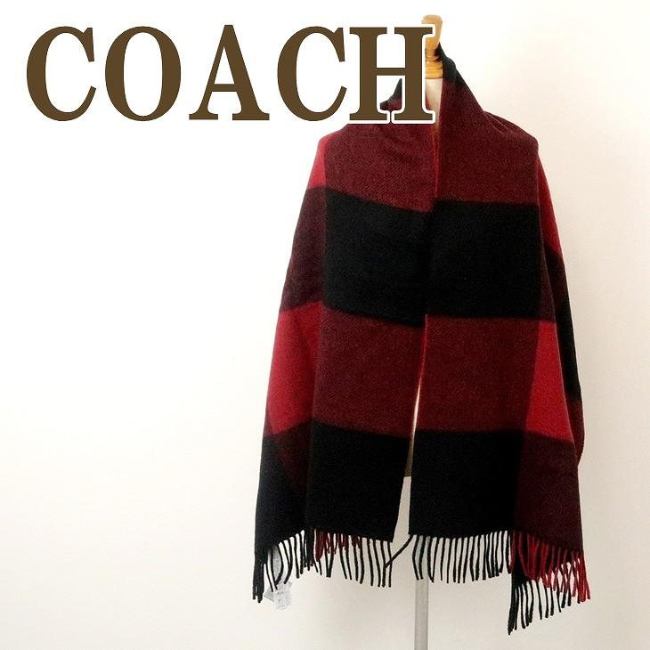 コーチ COACH メンズ マフラー ストール ウール 男女兼用 レディース 大判 76058RED ブランド 人気