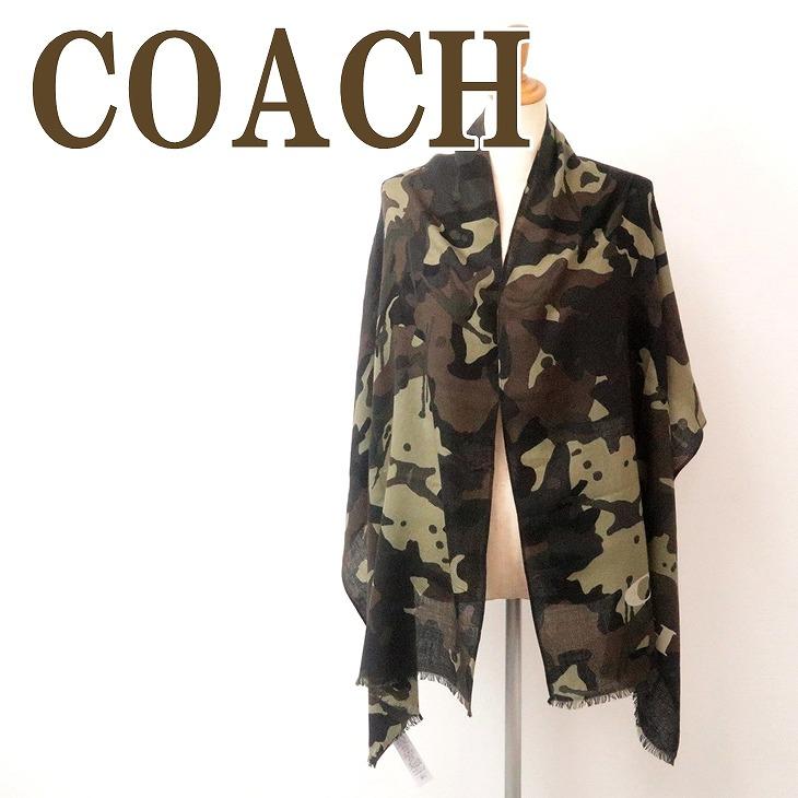 コーチ COACH メンズ マフラー ストール ウール 大判 スカーフ 迷彩柄 カモフラージュ 76060P0X ブランド 人気
