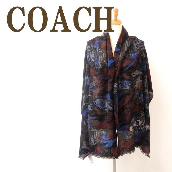 コーチ COACH メンズ マフラー ストール ウール 大判 スカーフ ランドスケープ 76062P1U ブランド 人気