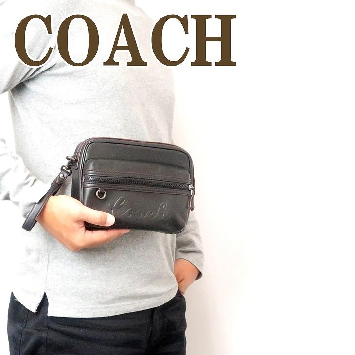 コーチ COACH バッグ メンズ セカンドバッグ クラッチバッグ セカンドポーチ ブラック黒 76861QBBK ブランド 人気