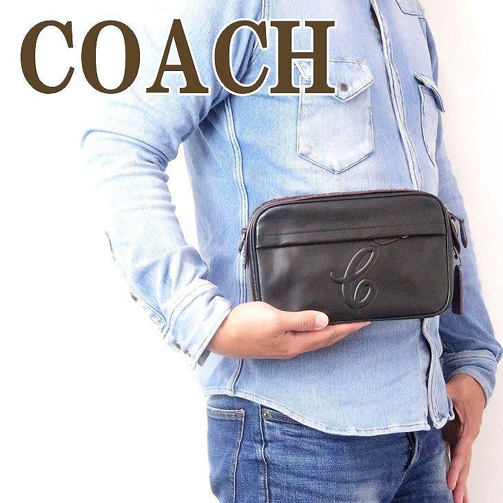 コーチ COACH バッグ メンズ ショルダー セカンド クラッチバッグ ポーチ ロゴ スタッズ ブラック黒 76911QBBK ブランド 人気