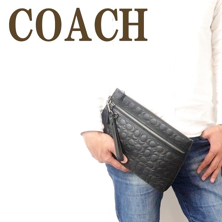 コーチ COACH バッグ メンズ セカンドバッグ クラッチバッグ ポーチ セカンドポーチ シグネチャー キルティング ブラック 黒 レザー 79811QBBK ブランド 人気