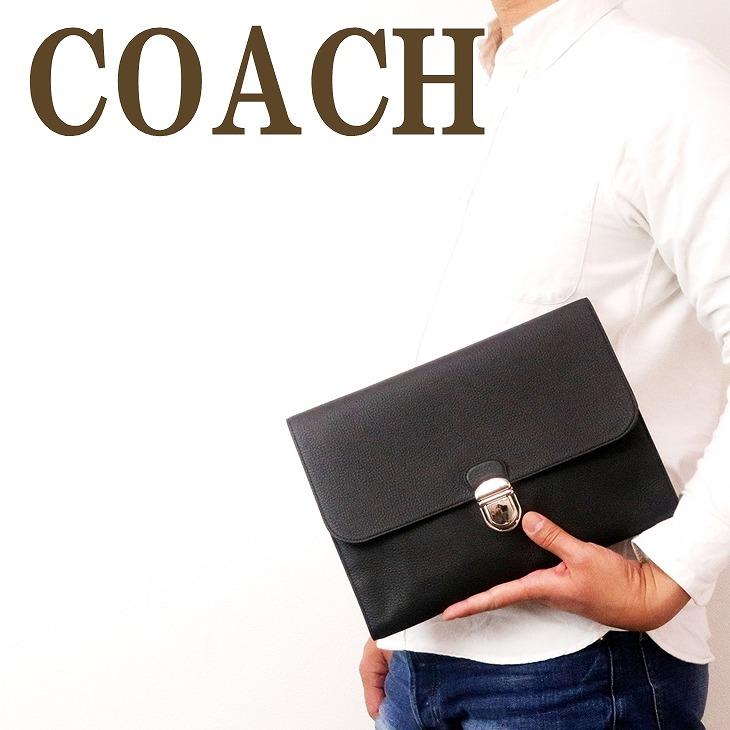 コーチ COACH バッグ メンズ セカンドバッグ クラッチバッグ ポーチ セカンドポーチ フラップ レザー ブラック 黒 79881NIBLK ブランド 人気