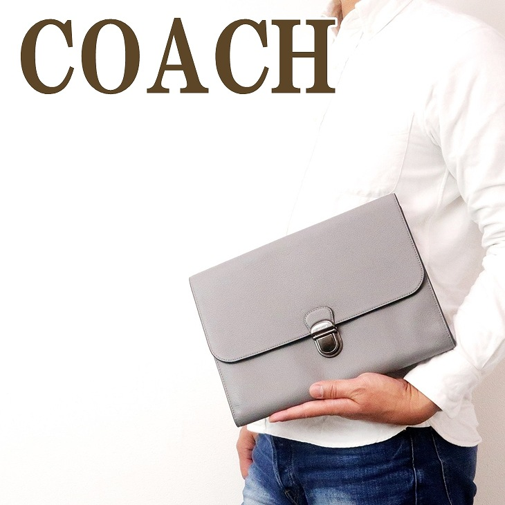 コーチ COACH バッグ メンズ セカンドバッグ クラッチバッグ ポーチ セカンドポーチ フラップ レザー 79881QBHGR ブランド 人気