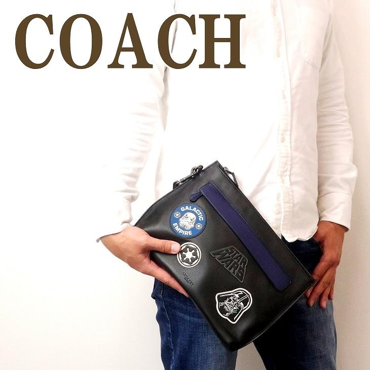 コーチ COACH バッグ メンズ セカンドバッグ クラッチバッグ ポーチ セカンドポーチ スターウォーズ ブラック黒 88113QBBK ブランド 人気