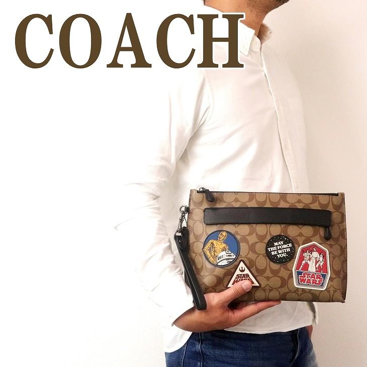 コーチ COACH バッグ メンズ セカンドバッグ クラッチバッグ ポーチ セカンドポーチ スターウォーズ 88114QBTN2 ブランド 人気