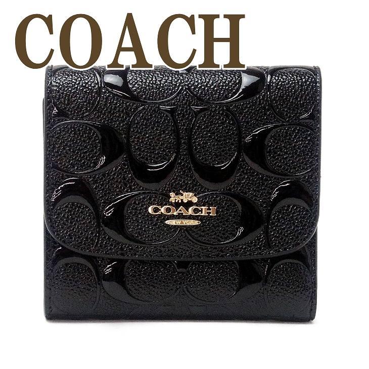 コーチ COACH 財布 レディース 三つ折り財布 ミニ財布 シグネチャー ブラック黒 88907IMBLK ブランド 人気