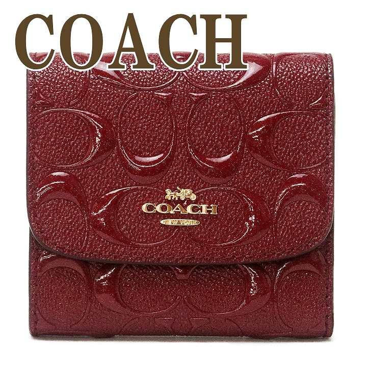 コーチ COACH 財布 レディース 三つ折り財布 ミニ財布 シグネチャー ラメ 88907IMCHE ブランド 人気