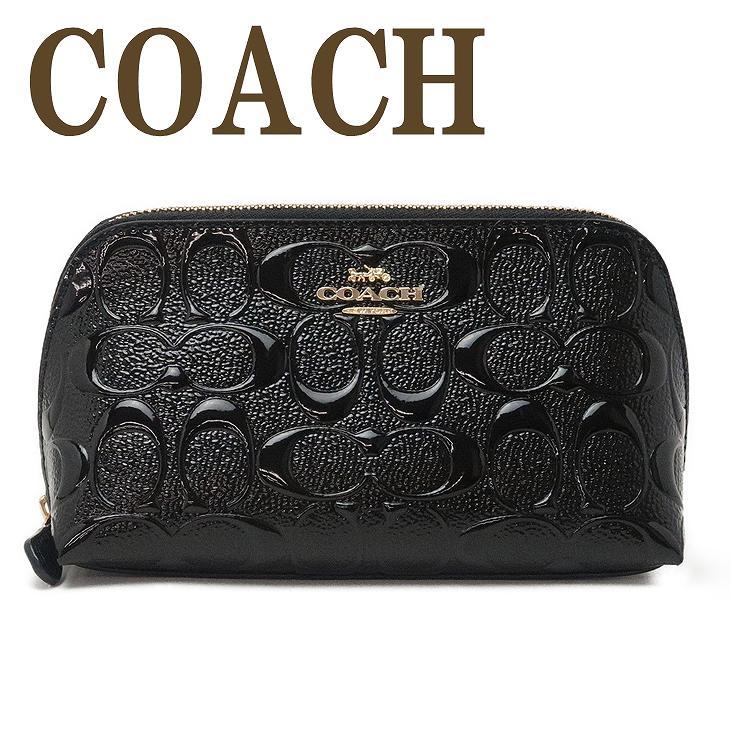 コーチ COACH ポーチ レディース コスメポーチ 化粧ポーチ シグネチャー ブラック黒 88908IMBLK ブランド 人気