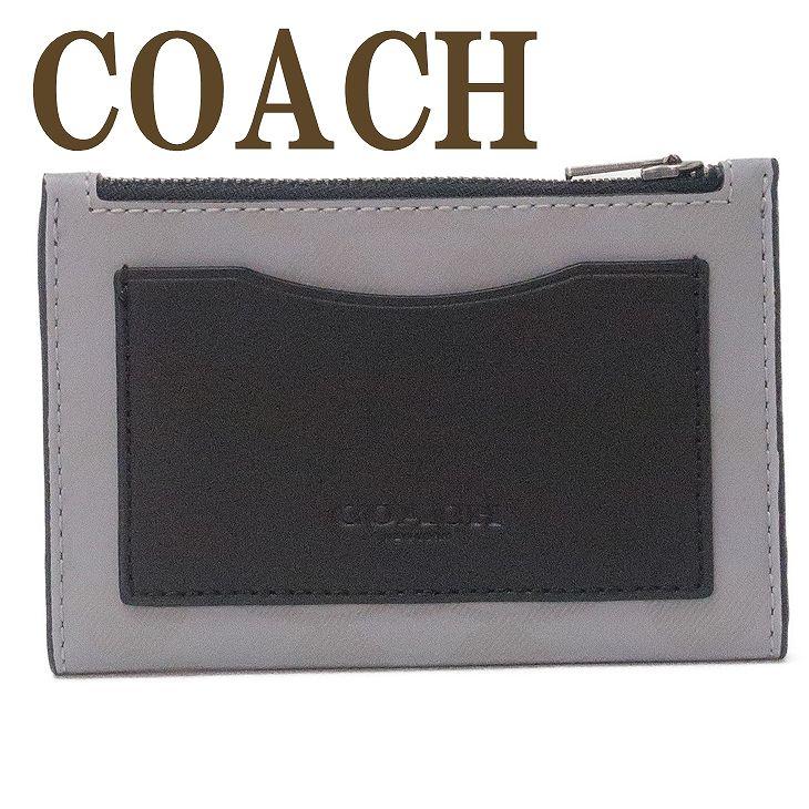 コーチ COACH 財布 メンズ カードケース コインケース IDケース パスケース 定期入れ 小銭入れ レザー 91225QBQ6Q 【ネコポス】 ブランド 人気