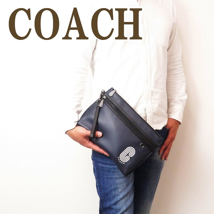 コーチ COACH バッグ メンズ セカンドバッグ クラッチバッグ ポーチ セカンドポーチ ロゴ レザー 91250QBNI9 ブランド 人気