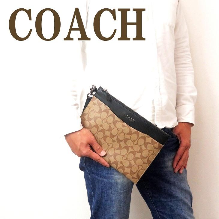 コーチ COACH バッグ メンズ セカンドバッグ クラッチバッグ ポーチ セカンドポーチ シグネチャー 91285QBTAL ブランド 人気