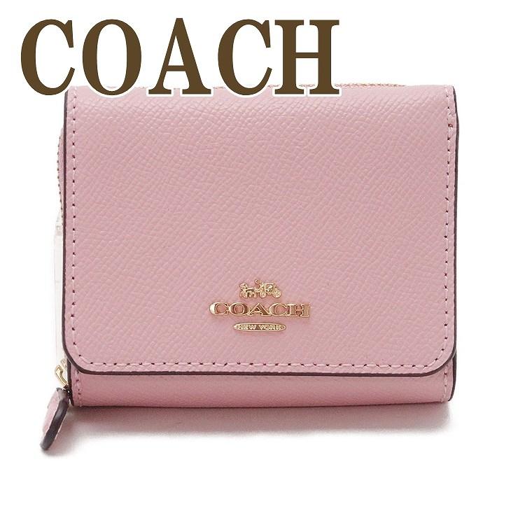コーチ COACH 財布 三つ折り 折財布 ミニ レディース レザー ピンク 37968IMAOM ブランド 人気