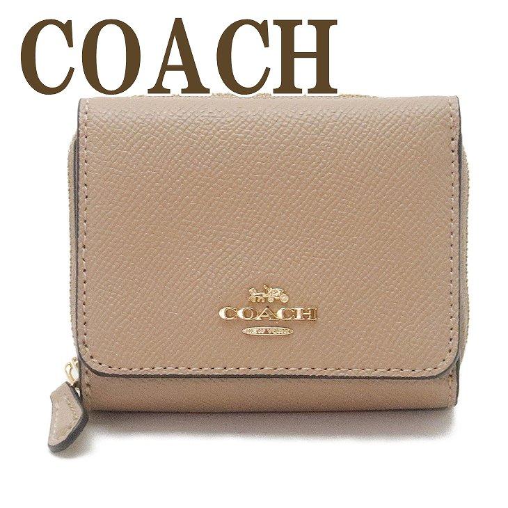 コーチ COACH 財布 三つ折り 折財布 ミニ レディース レザー 37968IMTAU ブランド 人気