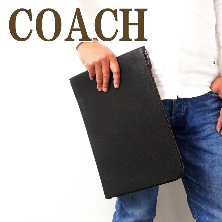 コーチ COACH バッグ メンズ セカンドバッグ クラッチバッグ ポーチ セカンドポーチ ブラック 黒 レザー 68302BLK ブランド 人気