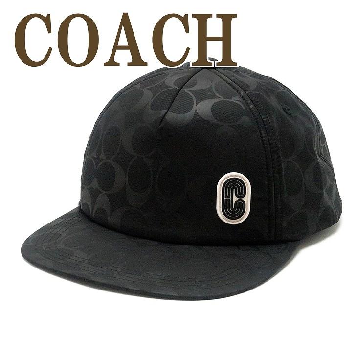 コーチ COACH メンズ 帽子 ベースボールキャップ ハット つば付 ロゴ ブラック 黒 89723BLK ブランド 人気