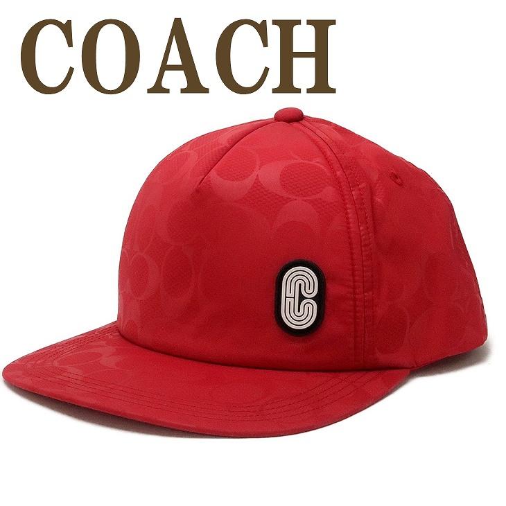コーチ COACH メンズ 帽子 ベースボールキャップ ハット つば付 ロゴ 89723RED ブランド 人気