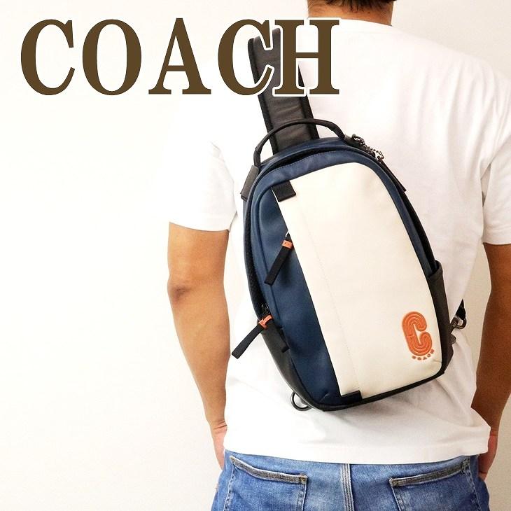 コーチ COACH バッグ メンズ ショルダーバッグ 斜め掛け ワンショルダー Cロゴ レザー 89912QBQ6O ブランド 人気