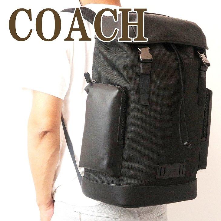 コーチ COACH バッグ メンズ ショルダーバッグ バックパック リュック ブラック黒 レザー 91496QBBK ブランド 人気