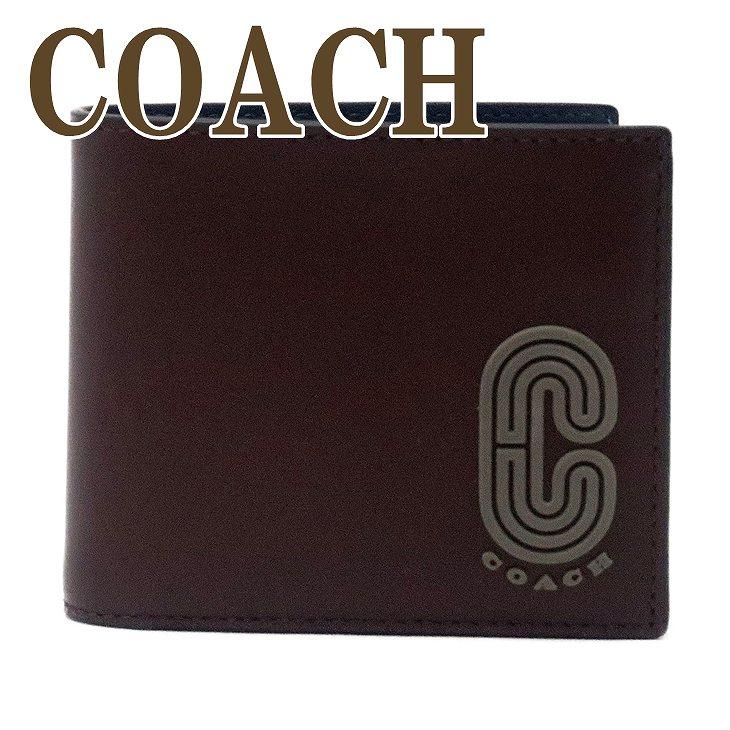 コーチ COACH 財布 メンズ 二つ折り財布 カードケース ロゴ 91625QBQC9 ブランド 人気