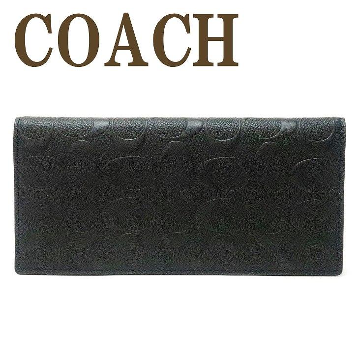 コーチ COACH 財布 メンズ 長財布 二つ折り 本革 レザー 長財布 91636QBBK ブランド 人気