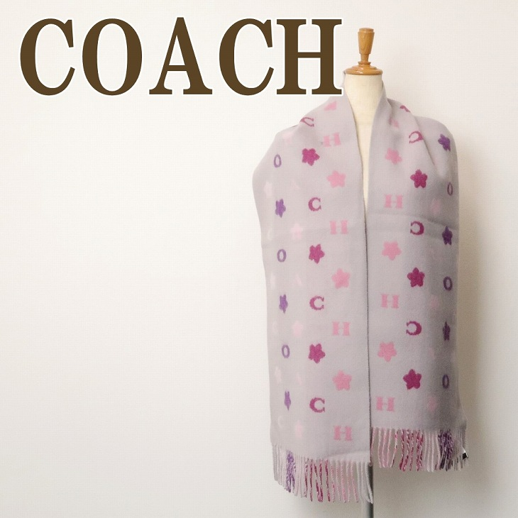 ブランド フローラル COACH 人気 4623C2J ウール ピンク レディース 花 マフラー コーチ