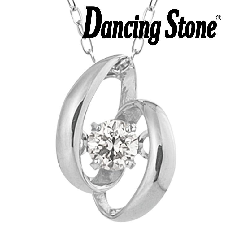 ダンシングストーン ネックレス ダイヤ 0.05ct K10 クロスフォー ダイヤモンド ギフト レディース ダンシングストーンネックレス DH-004