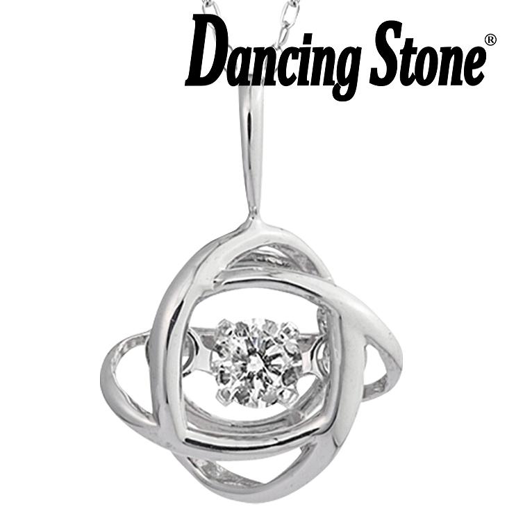 ダンシングストーン ネックレス ダイヤ 0.05ct K10 クロスフォー ダイヤモンド ギフト レディース ダンシングストーンネックレス DH-015