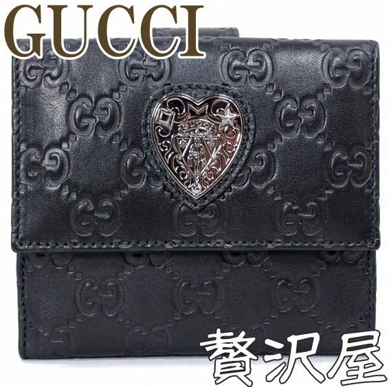 グッチ 財布 二つ折り財布 レディース グッチシマ ハート クレスト GUCCI 303491-AOONR-1001
